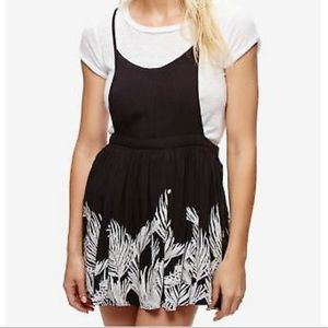 NWT Free People Black Tropical Oasis Dress Small